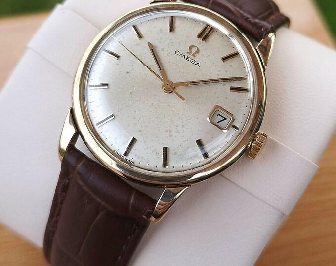 Omega Vintage 9k Watch, Fully Serviced + Warranty