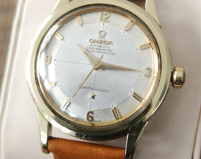Omega Constellation Pie Pan Cross Hair Men's Vintage watch  Automatic 1958 Serviced + Warranty