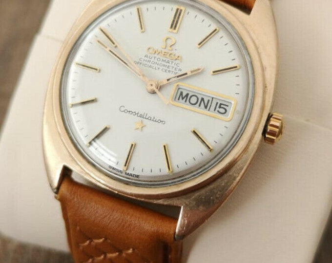 Omega Constellation Automatic 14k Rose Gold Vintage Watch, Serviced + Warranty