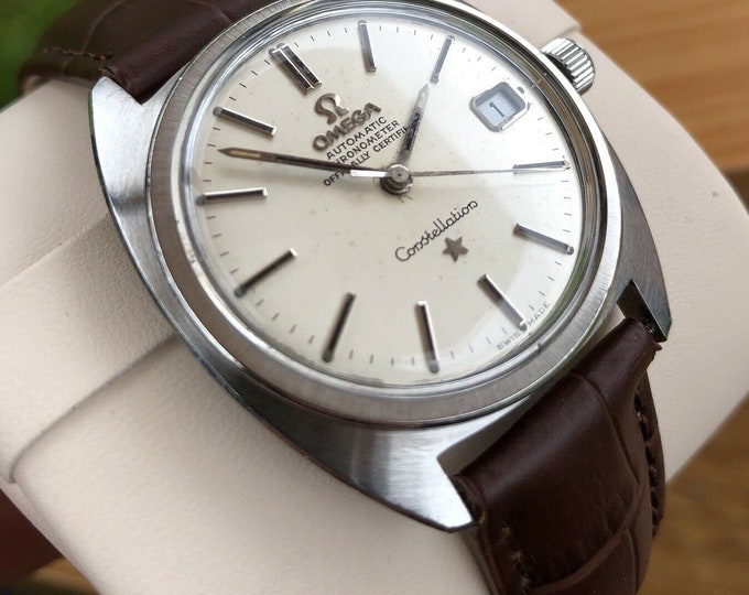 Omega Constellation Automatic Gents Vintage Watch, Fully Serviced + Warranty