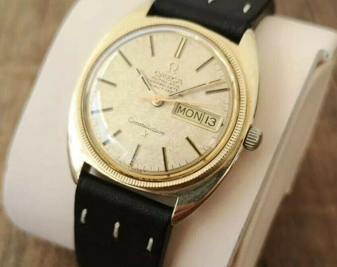 Omega Constellation 14k Vintage Mens Watch, Fully Serviced, Warranty - 1970