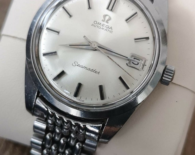 Omega Seamaster Vintage Watch S/S Automatic, Beads of Rice 1963, Serviced + Warranty