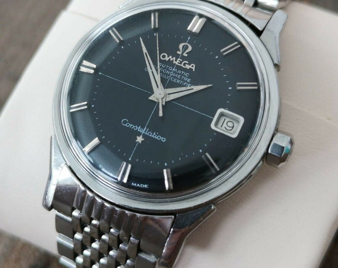 Omega Constellation Pie Pan Cross Hair Vintage Watch, Serviced + Warranty 1962