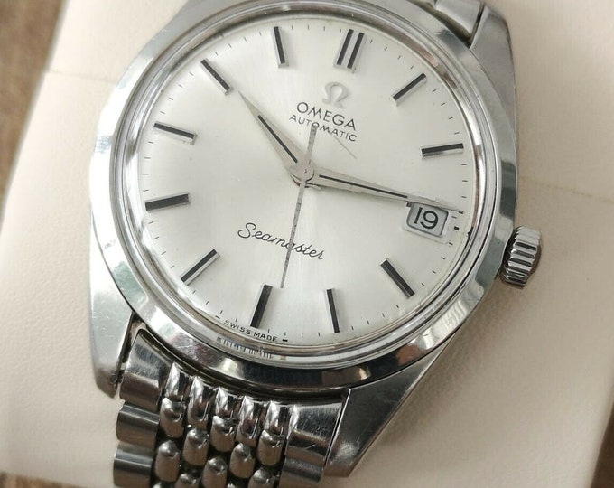 Omega Seamaster Vintage Watch S/S Automatic, Beads of Rice 1962, Serviced + Warranty