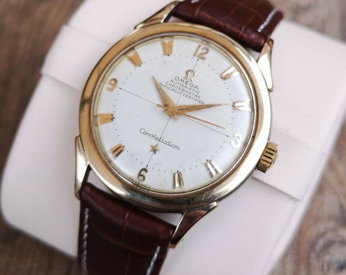 Omega Constellation Gold Plated Vintage Watch, Serviced, Warranty 354