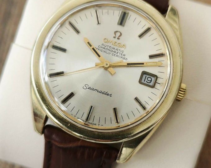 Omega Seamaster Chronometer 14k Gold Capped Vintage Watch Automatic - 1968 Serviced + Warranty