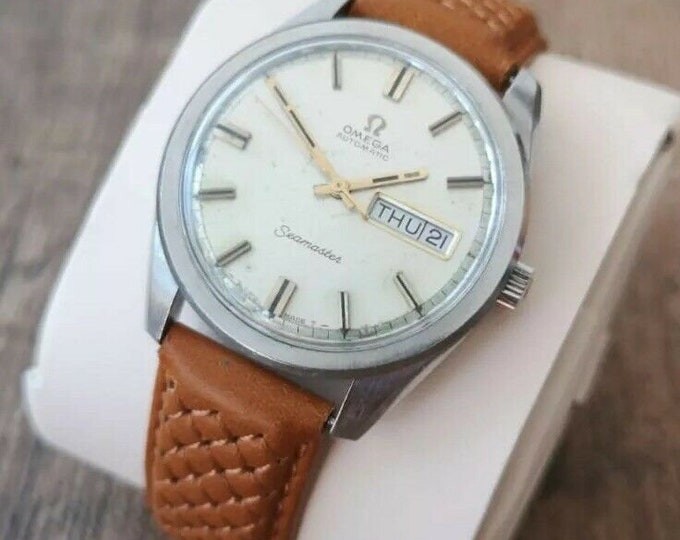 Omega Seamaster Stainless Steel Vintage Watch, Fully Serviced, Warranty + 1963