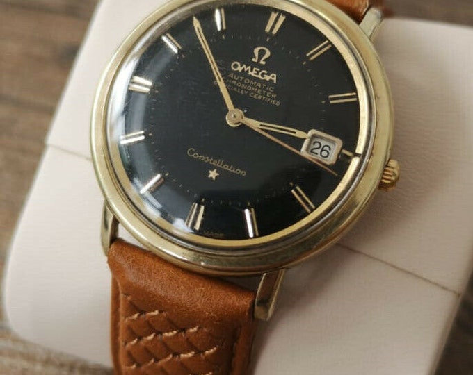 Omega Constellation Pie Pan Mens Vintage Watch 1963 - Fully Serviced + Warranty