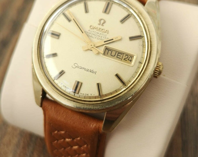 Omega Seamaster 14k Automatic Vintage Watch, Fully Serviced + Warranty 1969