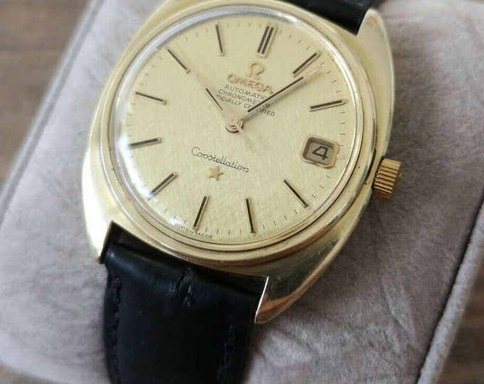 Omega Constellation Automatic 14k Vintage Watch, Fully Serviced + Warranty 1969