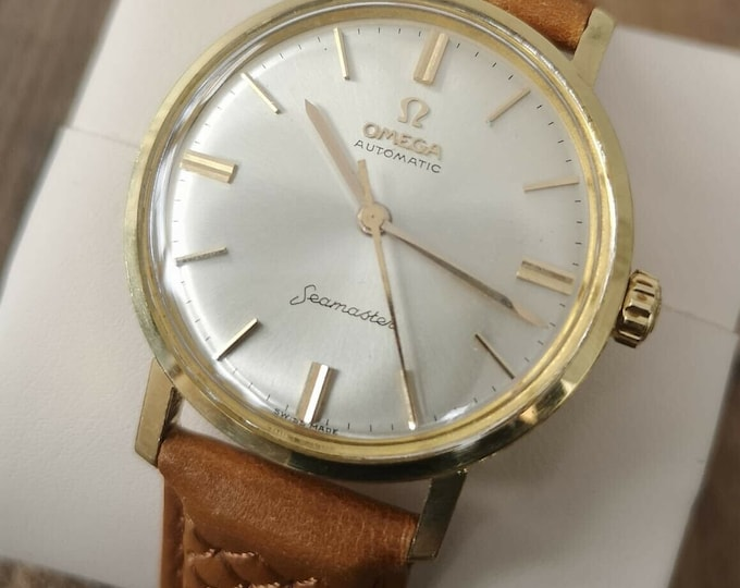 Omega Seamaster 18k Solid Gold Vintage Watch 1961 Fully Serviced + Warranty