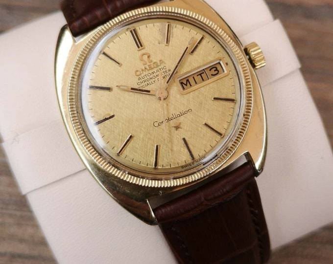 Omega Constellation 14k capped Automatic Gents Vintage Watch, Serviced+Warranty