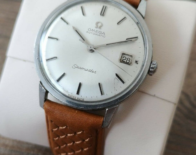 Omega Seamaster Mens Automatic Vintage Watch, Serviced + Warranty 1966
