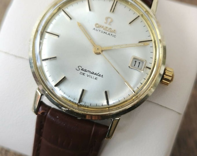 Omega Seamaster Deville Gold Plated Vintage Watch Automatic 1964 Serviced + Warranty