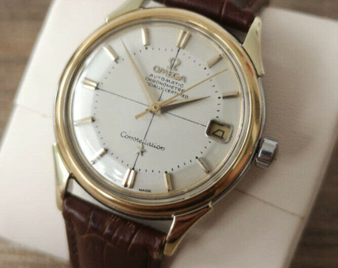 Omega Constellation Pie Pan Mens Vintage Watch 1966 - Serviced + Warranty