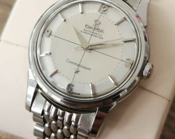 Omega Constellation Pie Pan Vintage Watch, Fully Serviced + Warranty 1961