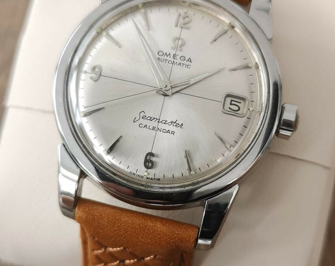 Omega Seamaster Calendar Cross Hair Vintage Automatic 1956, Fully Service + Warranty
