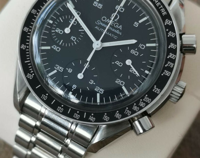 Omega Speedmaster Reduced Watch Stainless Steel Automatic Serviced + Warranty 1998