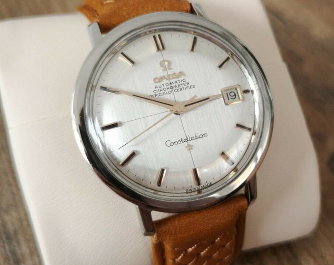 Omega Constellation Vintage Stainless Steel Watch, Serviced + Warranty, 1964