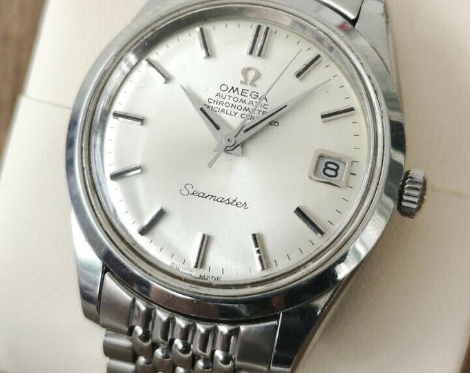 Omega Seamaster Rare ChronometerVintage Watch S/S Automatic 1969, Serviced + Warranty