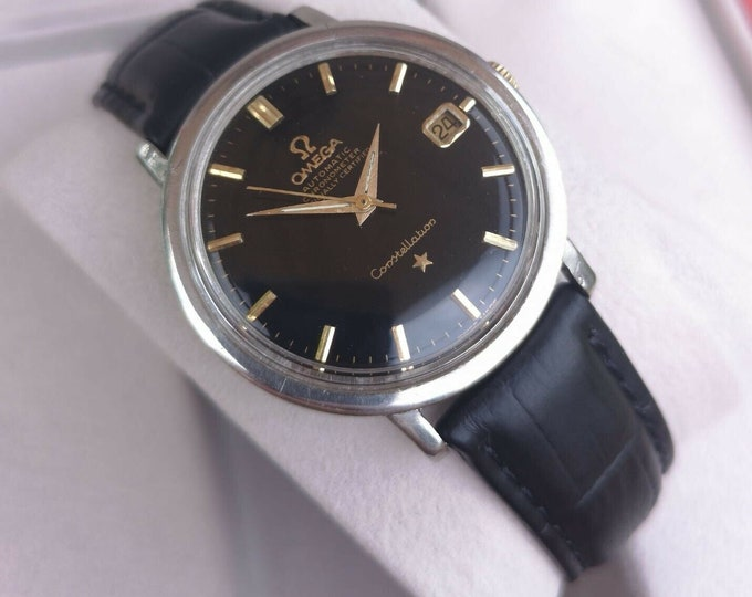 Omega Constellation Vintage Mens Watch, Serviced, Warranty And Box