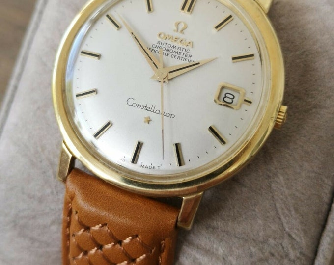 Omega Constellation 18k Gold Jumbo Vintage Automatic Watch - Serviced + Warranty 1966