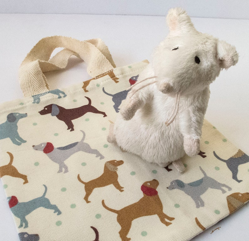 mini tote Tiny tote FREE UK SHIPPING child/'s tote dog gift bag made from sample of cotton curtain fabric