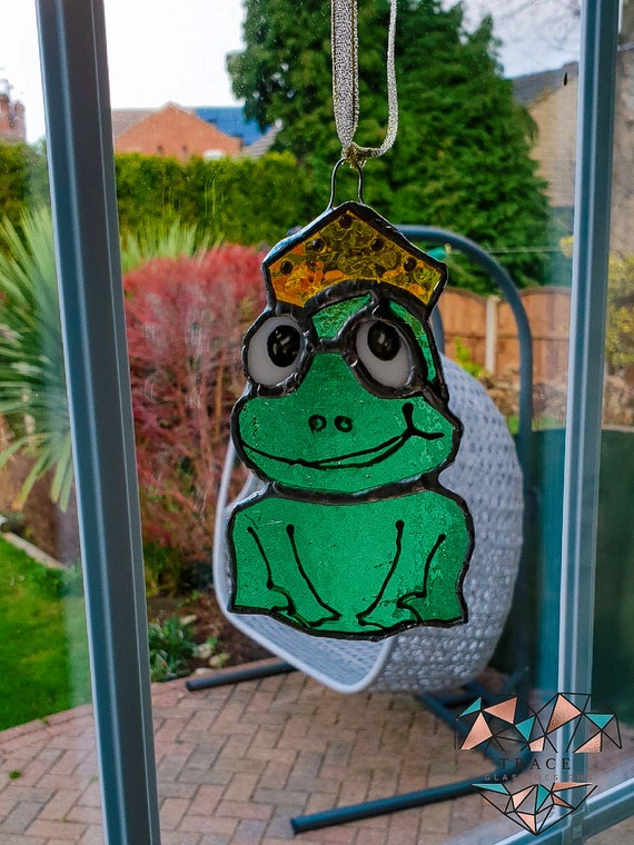 Vintage Happy Frog Suncatcher Very Good Condition