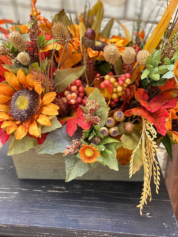 Fall Flowers, Fall Arrangement, Fall Decor, Autumn Home Decor, Sunflowers