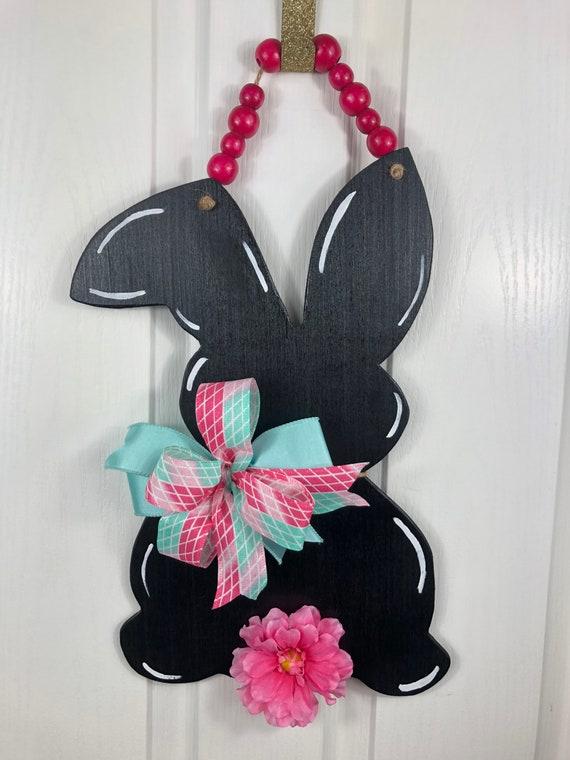 Easter, Door Hanger, Bunny, Rabbit Door Hanger, Easter Decor, Wooden Bunny, Spring Decorations, Wooden Bunny Rabbit, Easter Decorations