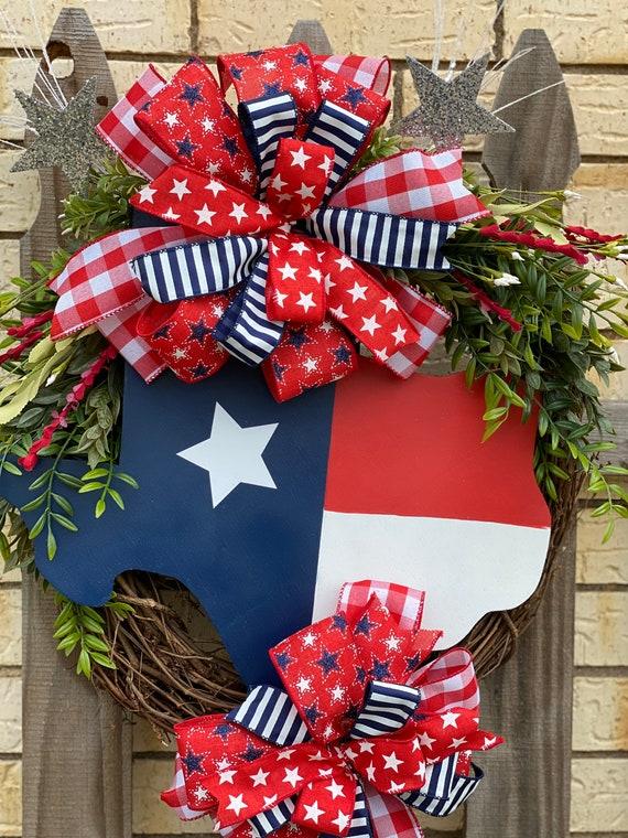 Texas Decor, Texas Decorations, Texas Wreath, Front Door Texas Wreath, Everyday Texas Wreath, Texas Sign