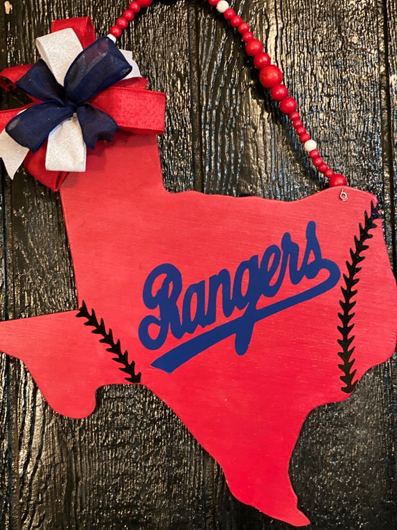 Texas Rangers Sign, Baseball Decor, Texas Rangers, Texas Wall Hanging, Rangers Baseball Sign