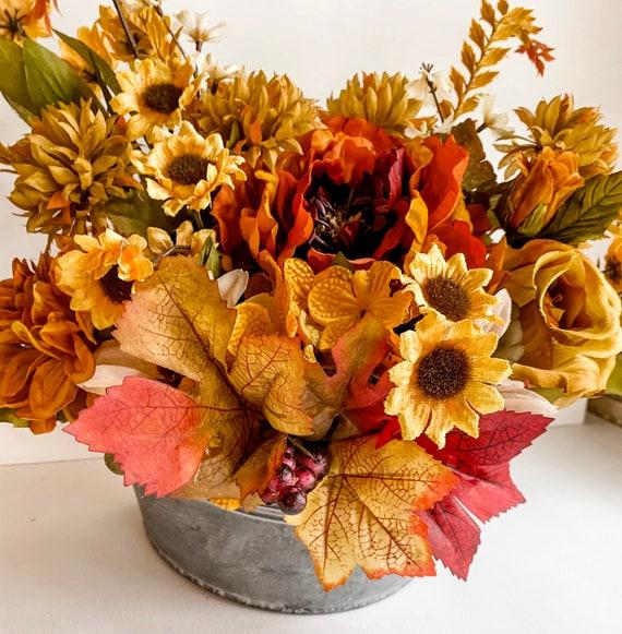 Fall Wall Decor, Auntumn Decor, Wall Decor, Home Floral Decor, Flower Arrangement, Hanging Flowers, Fall Floral