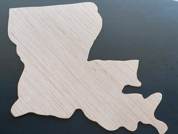 Louisiana, Unfinished Wood Cut Out, Louisiana Sign, Unfinished Door Hanger