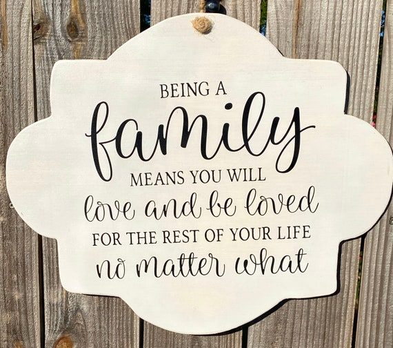 Wood Sign, Porch Sign, Wall Decor, Home Decor, Family Quote, Farmhouse Sign, Love Sign, Family