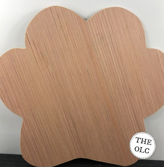 Unfinished Paw Print Cut Out, Unfinished Wooden Door Hanger, Unfinished Wood Paw, Dog Paw Print Cut Out, Wood Paw Door Hanger, Unfinished