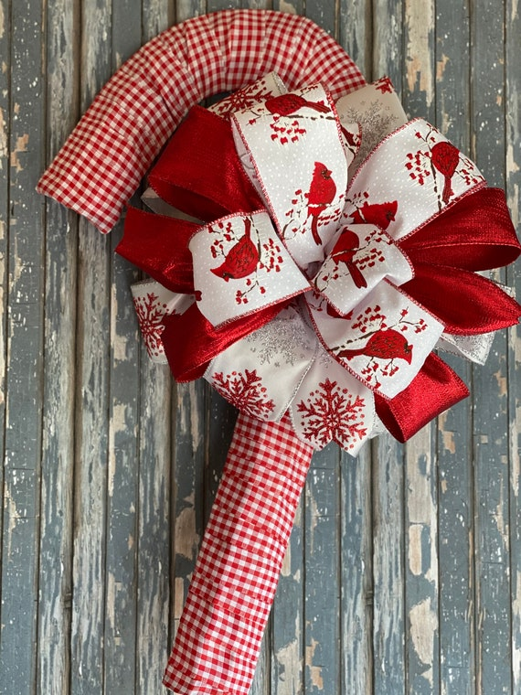 Candy Cane Decor, Christmas Cardinal, Christmas Decor, Front Door Christmas Decorations, Candy Cane Wreath