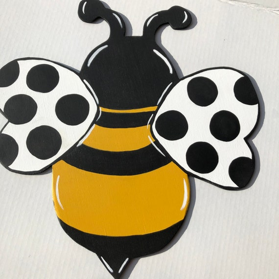 Bumble Bee Wreath Attachment, Bumble Bee Sign, Wooden Bumble Bee, Wholesale Wreath Attachments, Wreath Supplies Bee Theme, Wreath and Sign