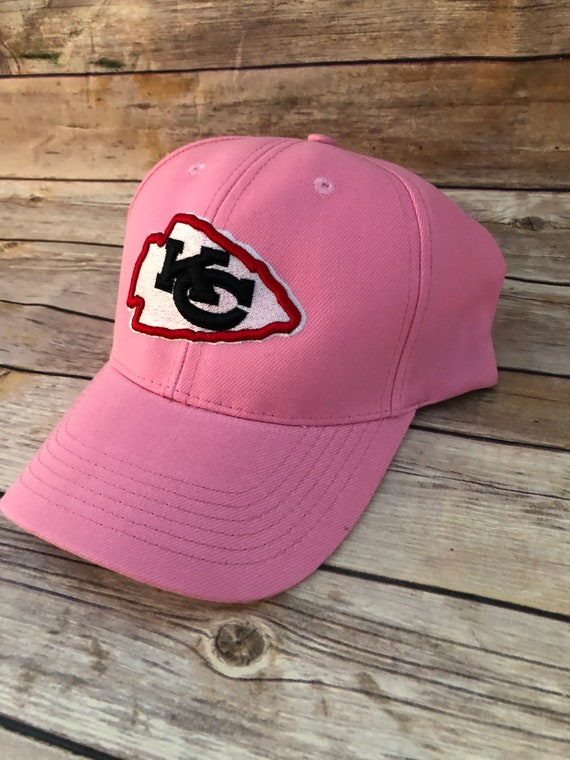 huge discount 0c23d 00ad2 Ladies Pink NFL Kansas City Chiefs |Embroidered | Adjustable Cap