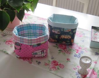 Bread basket Bread basket camping sewn small breakfast camper bun basket caravan pink romantic gift Smallselities basket basket