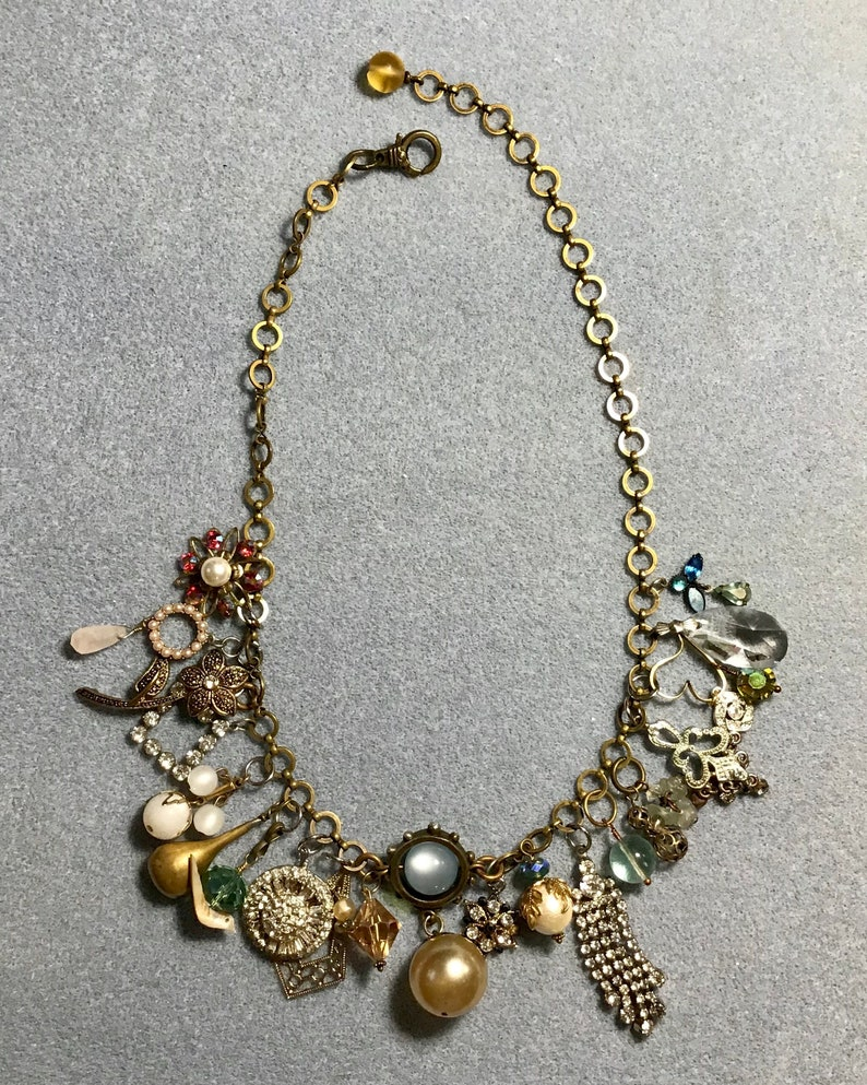 boho chic statement necklaces bridal jewelry Charm necklaces handmade wedding jewelry gift for her handmade