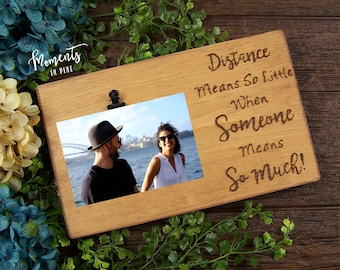 Long Distance Best Friend Picture Frame Friendship Gift Birthday For Him Engraved Wood