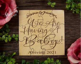 Baby Announcement Easter Pregnancy Announcement Puzzle Having a baby Announcement Ideas P2305 Pregnancy Reveal
