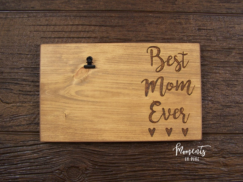 Mom Frame Mom Sign Mother/'s Day Gift Present For Mom Birthday Gift Mom Gift from Kids Gift from Daughter Best Mom Ever Mom Picture Frame