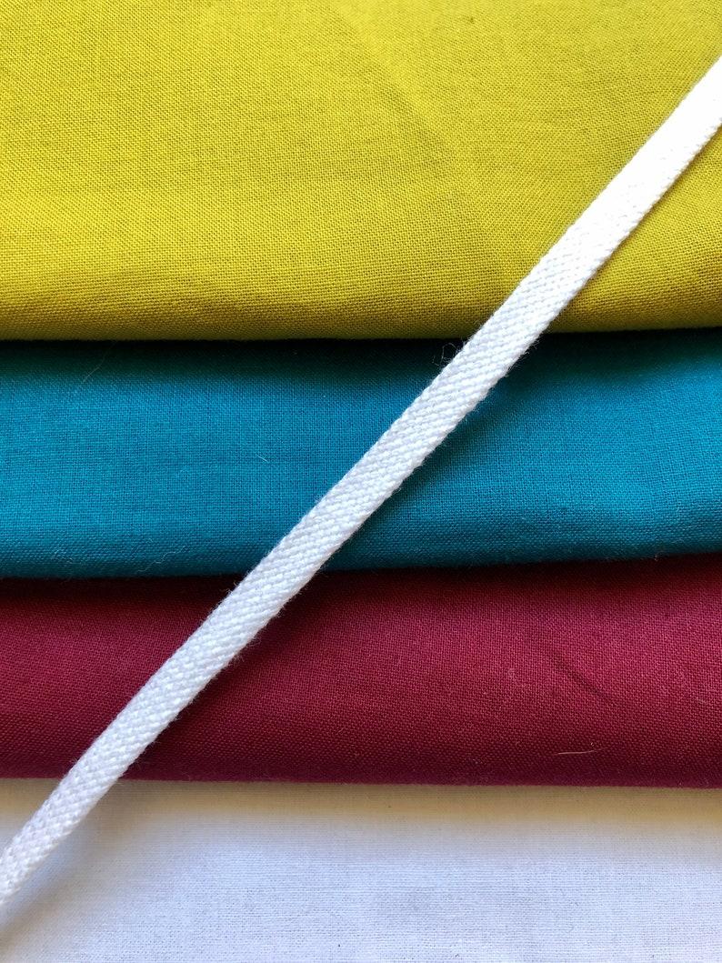 Hoodie Drawstring Durable Woven Tube Cord Drawstring Bags White Flat Woven Lightweight Cotton Drawstring