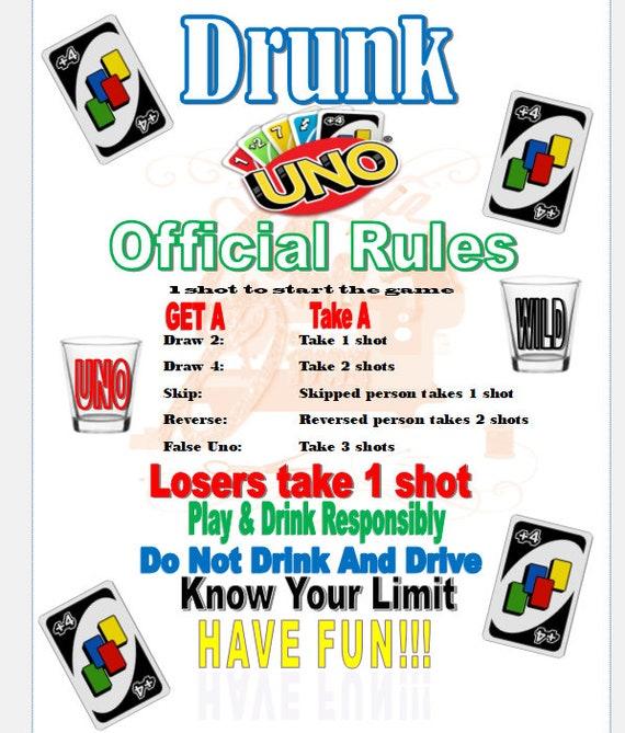 drunk uno digital rules  etsy