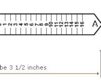 US Printable Ring Sizer