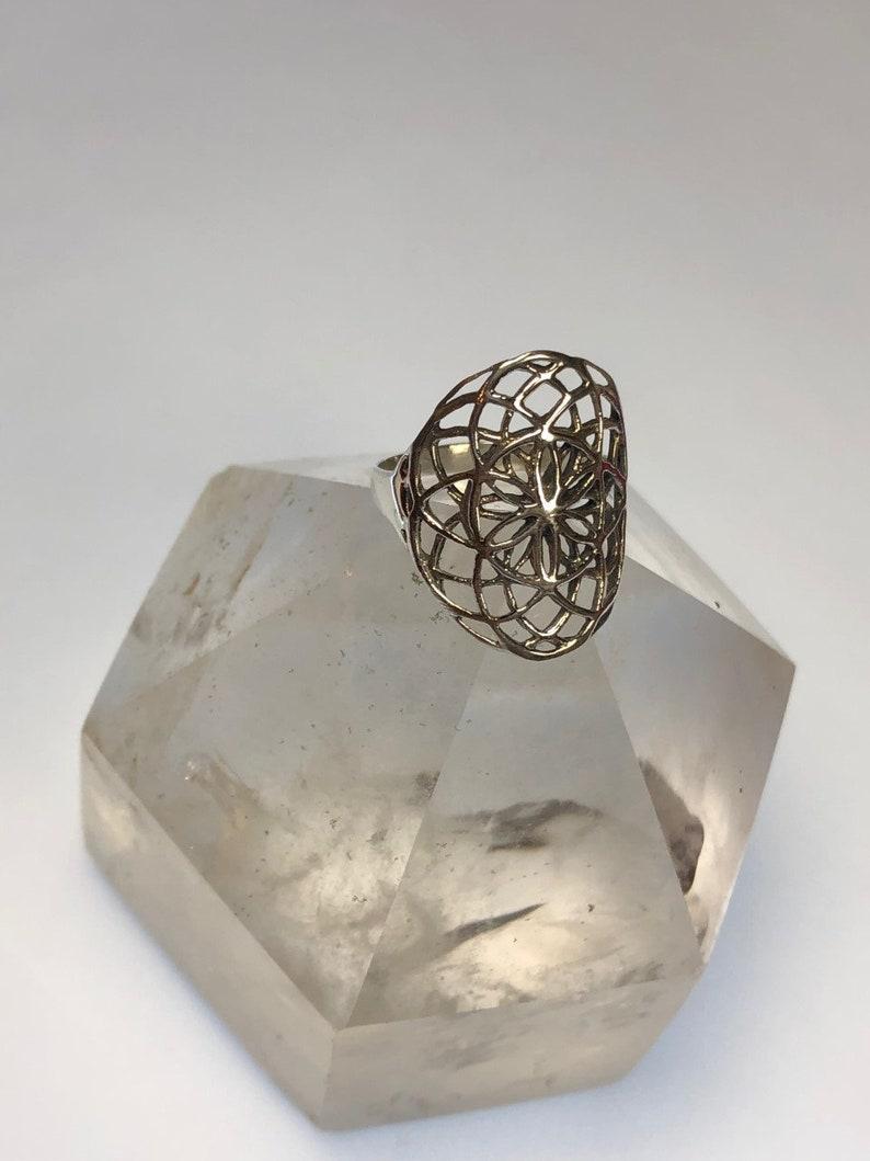 Sterling Silver Mandala Ring