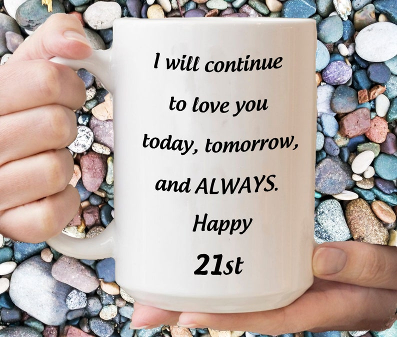 21st Anniversary Gift For Her Coffe Cup