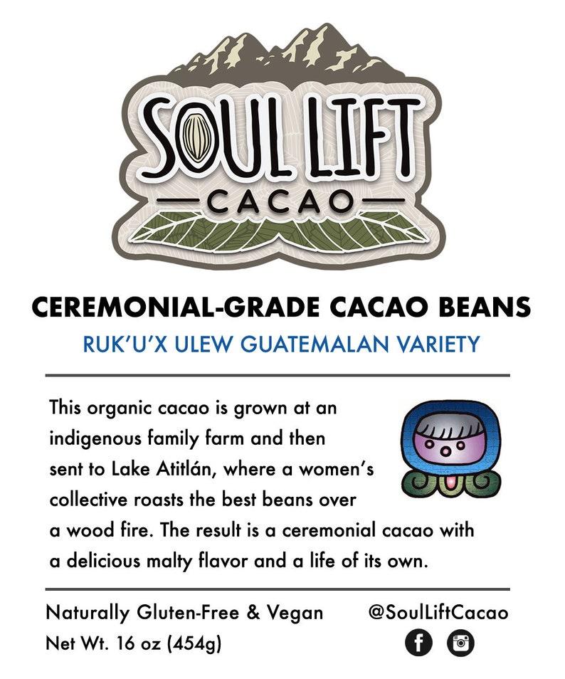 1lb Cacao Beans \u2013 Organic Ceremonial Cacao \u2013 Ruk/'u/'x Ulew Guatemalan Variety \u2013 Ethical Direct Trade